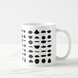 Vintage Retro Kitsch Sci Fi UFO Shapes Chart Coffee Mug
