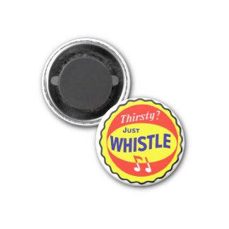 Vintage Retro Kitsch Soda Thirsty? Just Whistle 3 Cm Round Magnet