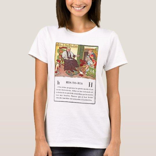 Vintage Retro Kitsch Spanish Historia Children's T-Shirt