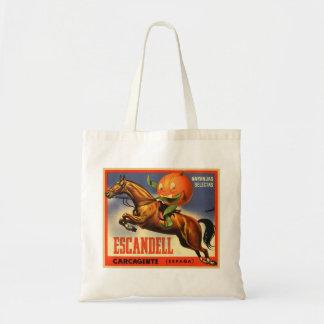 Vintage Retro Kitsch Spanish Oranges Fruit Label Budget Tote Bag