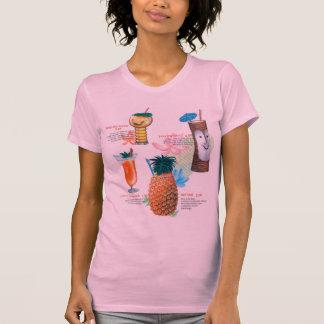 Vintage Retro Kitsch Tiki Cocktails Menu T-Shirt