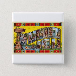 Vintage Retro Kitsch Wisconsin Dells Postcard 15 Cm Square Badge