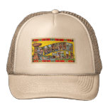Vintage Retro Kitsch Wisconsin Dells Postcard Hats