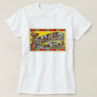 Vintage Retro Kitsch Wisconsin Dells Postcard T-Shirt
