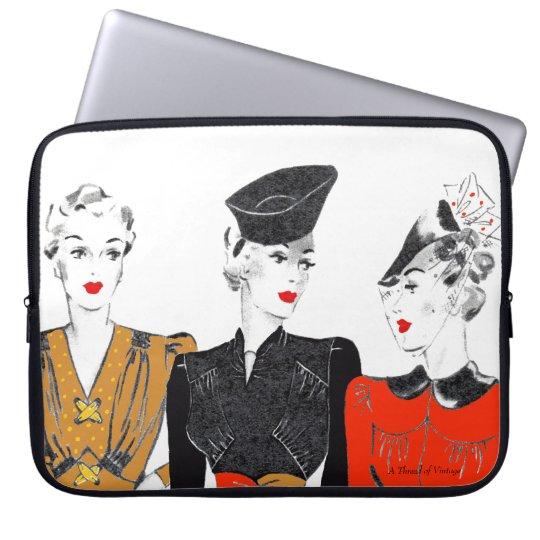 Vintage/retro laptop sleeve