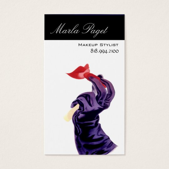 Vintage Retro Makeup Artist Business Card