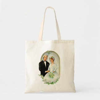 Vintage Retro Marriage 60s Just Married Couple Tote Bag