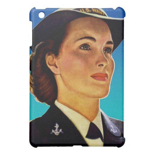 Vintage Retro Military Women WAVEs Navy Case For The iPad Mini