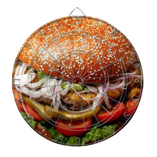 vintage retro novelty gift funny hamburger dartboard