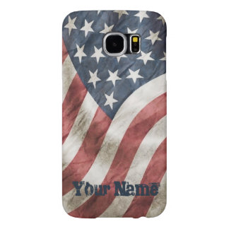 Vintage Retro Old Glory US Flag Personalized Samsung Galaxy S6 Cases