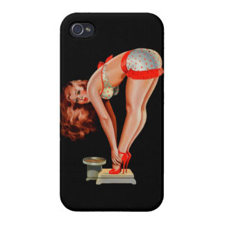 Vintage Retro Peter Driben Pinup Girl on Scale iPhone 4 Cover