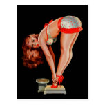 Vintage Retro Peter Driben Pinup Girl on Scale Postcard