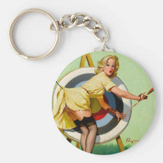 Vintage Retro Pinup Art Gil Elvgren Pin Up Girl Key Chain