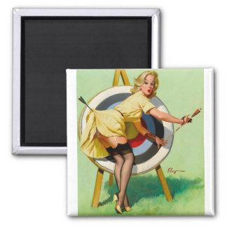 Vintage Retro Pinup Art Gil Elvgren Pin Up Girl Fridge Magnet