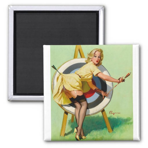 Vintage Retro Pinup Art Gil Elvgren Pin Up Girl Fridge Magnets