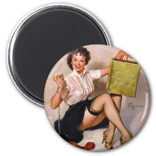 Vintage Retro Pinup Art Gil Elvgren Pin Up Girl Refrigerator Magnets