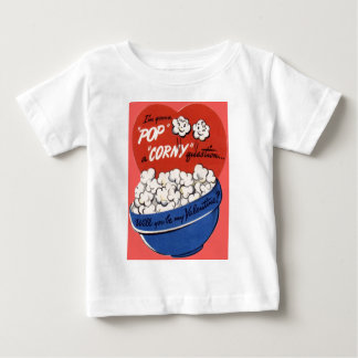 Vintage Retro Popcorn Valentine Baby T-Shirt