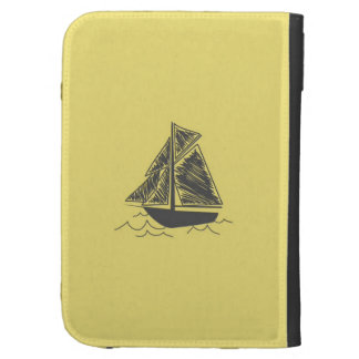 Vintage Retro Sail Boat  Pattern Case For The Kindle