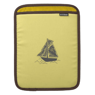 Vintage Retro Sail Boat  Pattern Sleeve For iPads