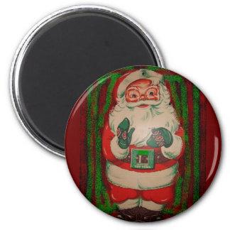 Vintage Retro Santa Claus 6 Cm Round Magnet