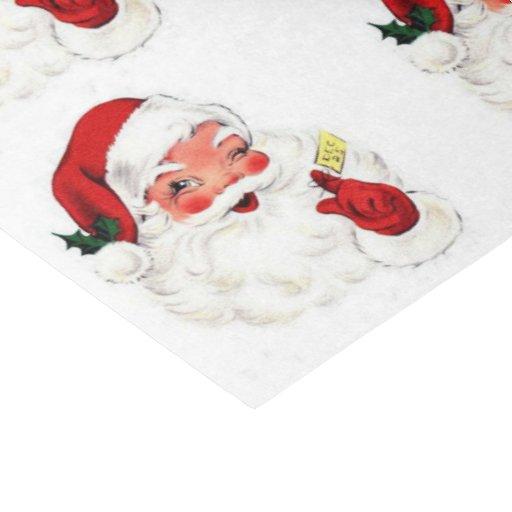 Vintage Retro Santa Gift Christmas Tissue Paper