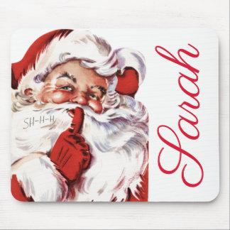 Vintage/Retro Santa Personnalised Mouse Mat
