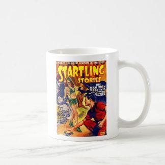 Vintage Retro SciFi Startling Stories Spaceship Basic White Mug