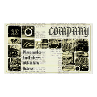 Vintage retro servise Double-Sided standard business cards (Pack of 100)