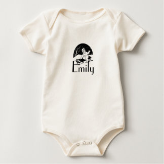 Vintage/Retro Sledging Child Personnalised Baby Bodysuit