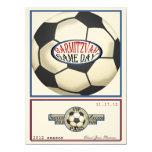 Vintage Retro Soccer 5.5 x 7.5 Bar Mitzvah Personalised Invitation