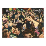 Vintage Retro Soiree Party Bash wing-ding Blank 13 Cm X 18 Cm Invitation Card