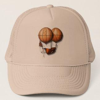 Vintage Retro Steampunk Air Balloon With Ship Trucker Hat