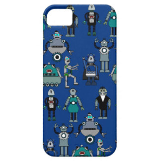 Vintage Retro Steampunk Robots - geek design iPhone 5 Case