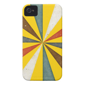 Vintage Retro Swirl On Canary Yellow Background iPhone 4 Case-Mate Case