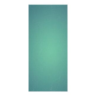 Vintage Retro Teal BlueGreen Turquoise Promotional Rack Card Template