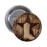 vintage retro texas star country fashion button