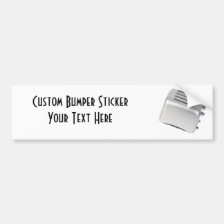 Vintage Retro Toaster Design - B&W Grey Bumper Sticker