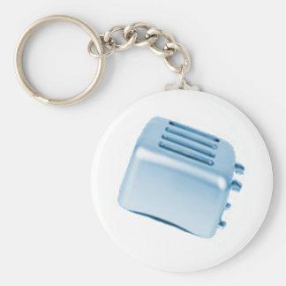 Vintage Retro Toaster Design - Blue Keychain