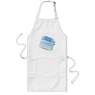 Vintage Retro Toaster Design - Blue Long Apron