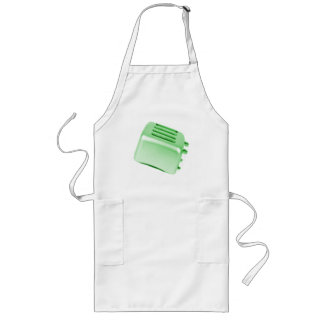 Vintage Retro Toaster Design - Green Aprons