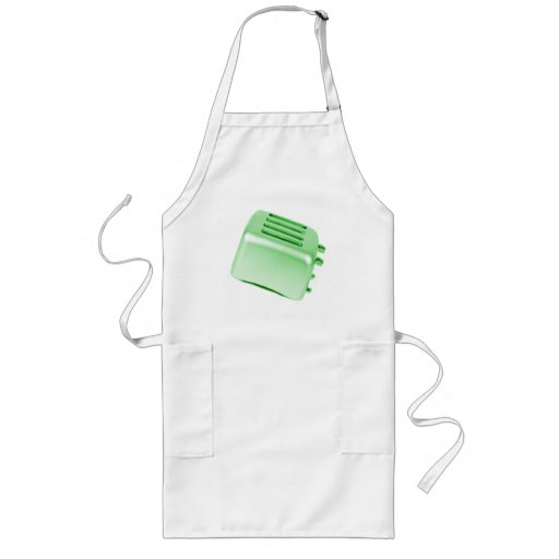 Vintage Retro Toaster Design - Green Aprons