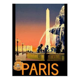 Vintage retro travel postcard France Paris