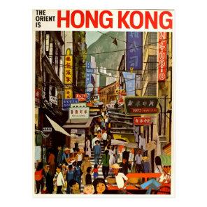 Vintage retro travel postcard Hong Kong Asia