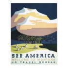 Vintage retro travel postcard Montana USA