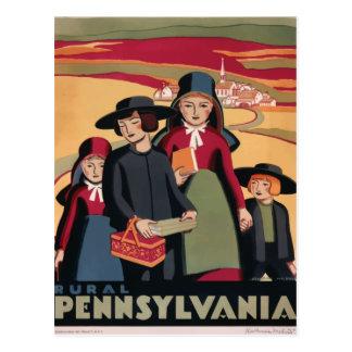 Vintage retro travel postcard Pennsylvania USA