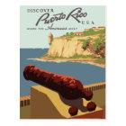 Vintage retro travel postcard Puerto Rico