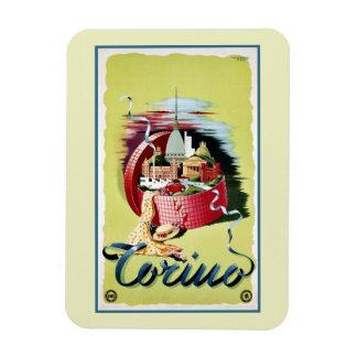 Vintage retro Turin Torino Italian travel ad Rectangular Photo Magnet