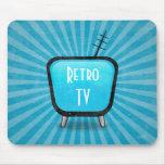 Vintage Retro TV Television Poster Mousepad