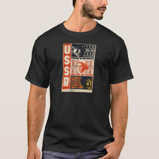 Vintage Retro USSR Country of 189 Peoples T-Shirt