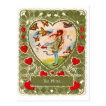Vintage Retro Valentine Victorian Be Mine. Post Card